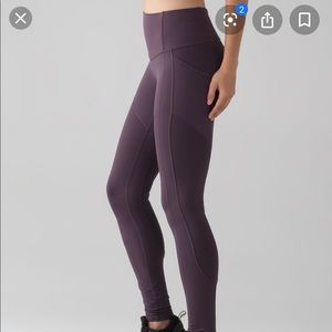 Lululemon in all the right places tights sz 14
